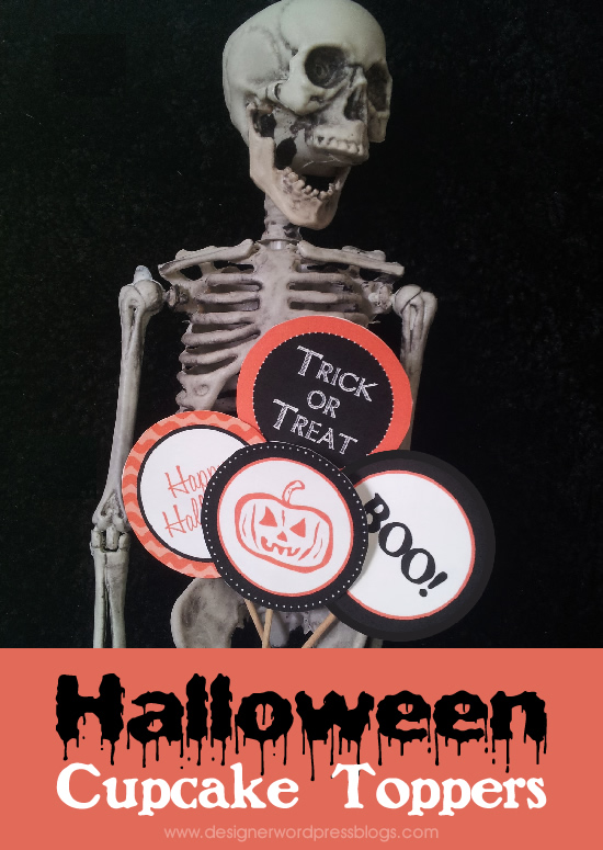 Halloween cupcake toppers - free printable