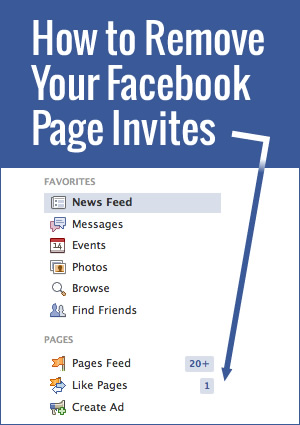 It isn't as obvious as some people may think! Here is how you remove Facebook page invites from your account.