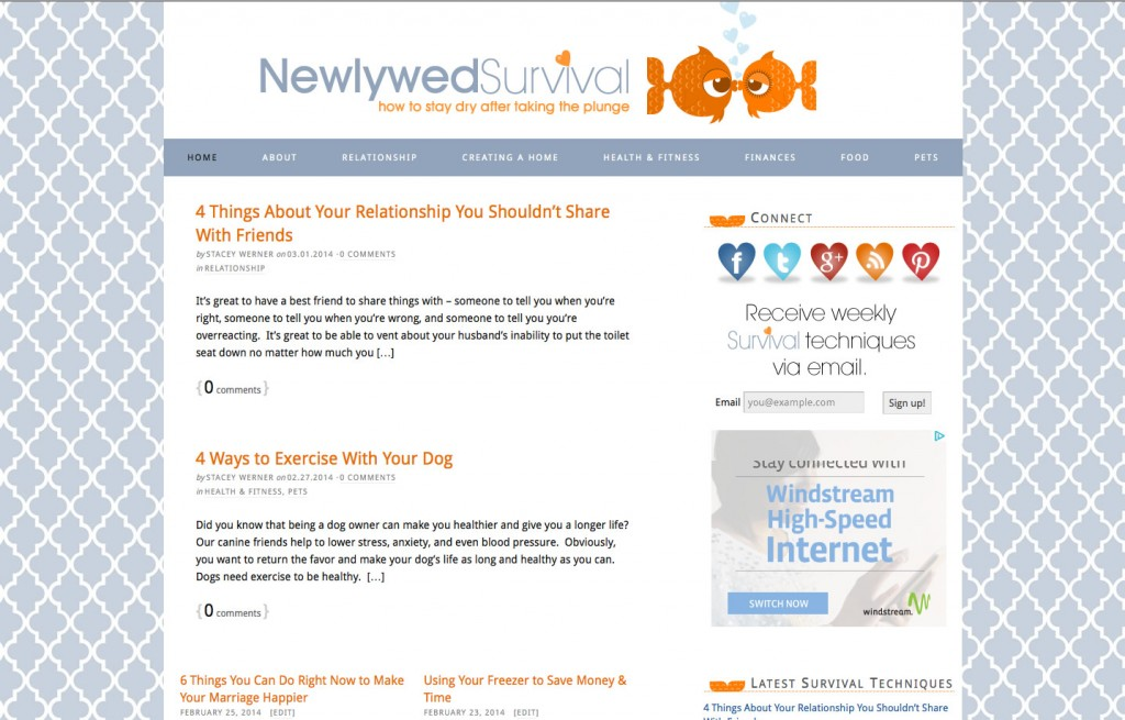 Newlywed Survival – WordPress Theme