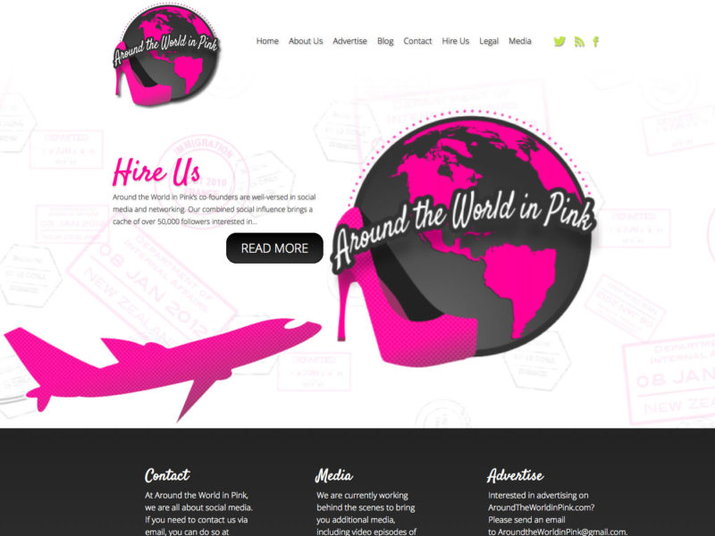 Around the World in Pink – WordPress Theme #soup2nutsblogs