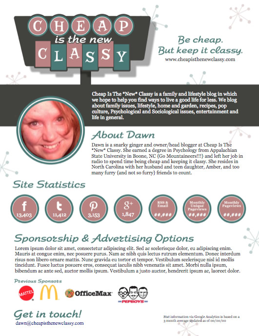 Cheap is the New Classy – Media Kit #soup2nutsblogs
