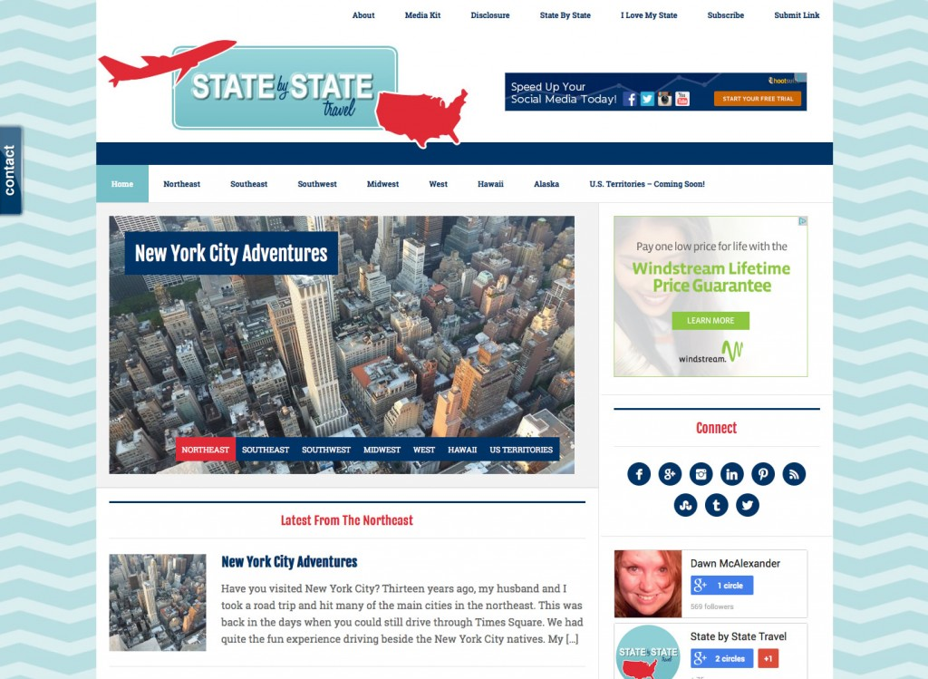 State by State Travel – WordPress Theme